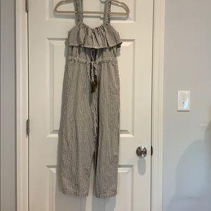 Zara cropped jumpsuit